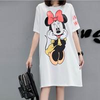 Wholesale Plus Summer Shift Dresses - New Summer Dress Plus Size Women loose thin Cartoon Printing Casual short-sleeve Shift T-shirt Dress female Vestidos XL-5XL