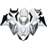 комплект abs для мотоциклов оптовых-5 бесплатных подарков Новый ABS мотоцикл обтекатель комплекты 100% подходит для SUZUKI GSXR1000 K7 2007-2008 GSXR 1000 K7 07-08 хороший серебряный белый артикул нет.220
