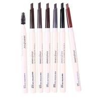kurşun kalem eko toptan satış-Innisfree ECO Kaş kalemi ile fırça 7 renk göz kaş makyaj su geçirmez uzun ömürlü