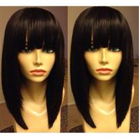 satılık brazilian peruklar toptan satış-Kısa Bob Peruk Patlama Tam Dantel Peruk İnsan Saç Brezilyalı Kısa Bob Dantel Ön Peruk Bakire Saç Cuts Bob for sale