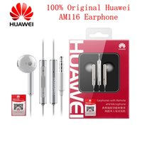 Auricolari originali Huawei Auricolare AM116 3.5mm Huawei con microfono per iphone PC Samsung Huawei P10 P9 mate9 telefoni Android