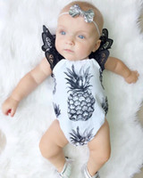 Cute Baby Girls Romper Lacy Fruit Pineapple Sliders Холтер Кружева Девушка Комбинезоны Baby Beach Suit Toddler One-Piece of Clothing