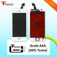 Wholesale Promotion Test - for iPhone 5S LCD Display & Touch Screen Digitizer Full Assembly with Earpiece Anti-Dust Mesh Free Installed AAA 100% Test Promotion