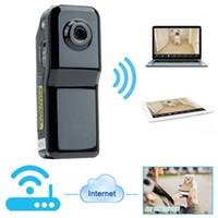 Wholesale Remote Pc Iphone - Mini DV Wifi Camera Portable Camera Video Recorder Security DVR for Iphone Android ipad PC Remote View Super Video Camera MD81S