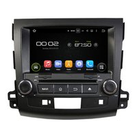 Wholesale Outlander Radio Gps - 8'' Quad Core Android 5.1 Car DVD GPS For Mitsubishi OUTLANDER 2006 2007 2008 2009 2010 2011 2012 With Stereo Radio Map