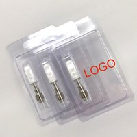 Wholesale Blister Shell - Instock Clam Shell Blister packaging Wax Vaporizer Ceramic coil Wickless Cartridges 510 Thick Oil disposable eCig Glass Atomizer .5ml