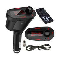 Wholesale car mp3 player handsfree for sale - Practical Handsfree Car Kit Wireless FM Transmitter MP3 Player Car Kit Charger LCD display For iPhone Samsung color
