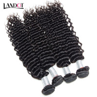 Wholesale Brazilian Deep Weave Piece - Brazilian Peruvian Indian Malaysian Mongolian Curly Virgin Human Hair Weaves Bundles Brazilian Deep Curly Remy Hair Extensions Natural Black