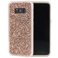 Wholesale Diamond Cellphone Cases - Armor Protective Glitter Diamond Rhinestone Elegant Bling Cellphone Case For Samsung Galaxy S8 S8+ Plus Edge