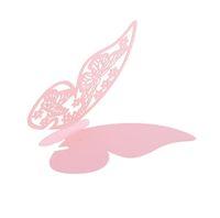 ingrosso carte di scorta di vetro-Wholesale- 50 pezzi Farfalla Place Escort Wedding Party bicchiere di vino Carta di carta rosa
