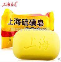 Wholesale Shanghai Sales - Wholesale-Hot New Sale Shanghai Sulfur Soap Skin Conditions Acne Psoriasis Seborrhea Eczema Sponges Wholesale