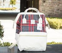 Wholesale Original Japan - Japan Anello Original Backpack Rucksack Unisex Canvas Quality School Bag Campus Big Size Fashion Mommy Backpack