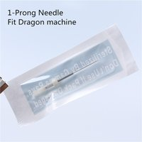 Wholesale Needle For Machine Dragon - Wholesale-Free Shipping 100pcs 1-prong Round Makeup Card needle fit on Dragon machine - 100 Needle tips for Gift
