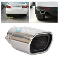 Wholesale Exhaust Tips Silencers - 63mm Universal Straight Stainless Steel Exhaust Tails Rear Tail Silencer Tip Pipe