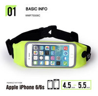 Wholesale Waterproof Zipped Pouches - 2017 AAA Outdoor Bags Waterproof Waist Money Wallet Pouch Sports Pack Hiking Leisure Mini Zip Running Bag Belt for iPhone 6 Plus