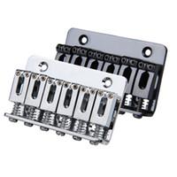 Wholesale guitar bridge wholesale - 6 Saddle Hardtail Bridge Top Load 65mm Electric Guitar Bridge with 5pcs screws Guitar Accessories