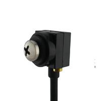 mini lente de camara espia al por mayor-rosca blanco CMOS 600TVL alfiler lente Mini FPV CCTV del agujero de alfiler oculta espía cámara de seguridad Inicio Audio Cam Mini botón