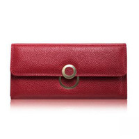 Wholesale Purse Key Rings - Brand Wallet Women Wallets New Fashion Female Cards Holders Genuine Leather Wallet Coin Purses Lady Wallet with Ring J77
