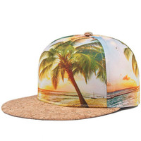Wholesale Hat Rock - cap floral summer style men women snapback hat hip hop rock caps fashion snapback baseball caps Coco beach map snapback caps
