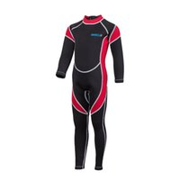 Wholesale Onepiece Swim Suit - 3 colors good quality wholesale kids full wetsuit neoprene swimsuit swim swear long sleeve and legs uv protection onepiece diving suit 2-14Y