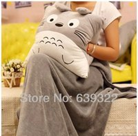 Wholesale Totoro Hand Warmers - Wholesale- Totoro Hand Pillow Hand warmer Plush Toy cloth doll Totoro Cushion 40*40CM Free Shipping 1 Pcs