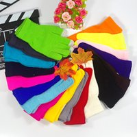 Wholesale Colorful Cotton Gloves - Fashion Christmas Colorful Winter warm touch gloves Cotton capacitive touch screen conductive gloves z075
