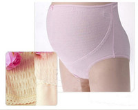 Wholesale High Waist Cotton Maternity Underwear - High Quality Cotton Maternity Panties Slim Fit Pregnant High Waist Panties Maternity Brief Underwear Random Color