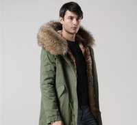 Wholesale Hooded Rabbit Fur - Mr & Mrs Man Classic Furs Long Parkas hooded with raccoon fur collar and rabbit furs lining USA UK