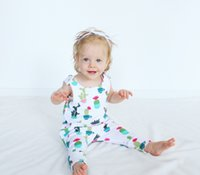 Wholesale Kids Buckle Clothes - Toddler kids cotton rompers baby girls printed sleeveless jumpsuit Infants cactus buckle shoulder vest jumpsuit Baby Clothing C1476