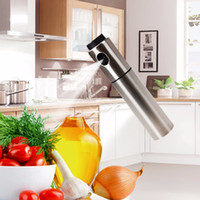 Metal ECO Friendly  Oil Spray Bottle Stainless Steel Olive Pump Sprayer Bottled Barbecue Pot Injection Oils Jar Cooking Tool Hot Sale 10zx F R