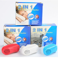 Wholesale Health Air - Snoring Air Purifier Mini PM2.5 Mini Snoring Cessation Stop Snore Nose Clip Sleep Tray Sleeping Health Care with Retail Box