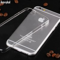 Wholesale Hard Plastic Pc Case Crystal - For iphone 7 6s Plus iphone 7 Plus Case Glossy 1.3 mm PC Plastic Transparent Crystal Clear Hard Cover