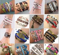 Wholesale United States Big - DIY originality, fashion, foreign trade, explosion, supply, Europe and the United States, big friendship, multi layer woven bracelet, a vari
