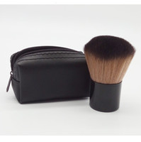 Wholesale HOT Makeup M rouge brush blusher brush Leather bag