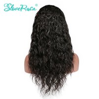 Wholesale Remy Water Wave Wigs - Slove Lace Front Human Hair Wigs Brazilian Remy Hair Water Wave Front Lace Human Hair Wig For Black Women Curly Lace Front Wigs