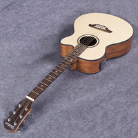 Wholesale Acoustic Jumbo - Wholesale- Electro Acoustic Electric Folk Pop Flattop Guitar Jumbo 40 Inch Guitarra 6 String Picea Asperata Light Built-in Tuner Cutaway