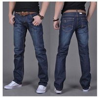 Wholesale Casual Blue Jeans Mens - Wholesale-Men's Dark Blue Denim Jeans Mens Brand Jeans male pants casual trousers plus size jean joggers biker jeans