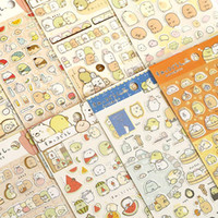 Wholesale San X Stationery - Wholesale- New 20 pcs 1set kawaii scrapbooking Corner Creature Ver 3 planner stickers Decoration label Cartoon Korea Stationery SAN-X