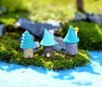 ingrosso ornamenti di albero della resina-Resin Garden Decorations Fairy Garden Miniature Figura carina Animal Tree House Artigianato Mini Tree Decor Landscape Ornament Fairy Garden