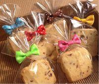 Wholesale Bread Wire - Wholesale-100PCS Bowknot dot pattern Sealing wire bakery packing sealing bread cake decoration Wire Twist Tie