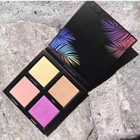 Wholesale Eyeshadow Palette 3d - Newest Beauty Summer 3D 4 Colors Eyeshadow Highlighter palette Gold Pink Sands Editio Summer Solstice Collection Makeup Palettes