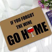 ingrosso tappeti benvenuti-Divertente zerbino divertente dicendo citazioni se hai dimenticato il vino vai a casa tappeti zerbini di benvenuto tappeti da cucina antiscivolo regalo di natale