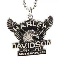 Wholesale Unique Jewlery - HARLY hip hop jewlery eagle stainless steel biker jewelry vintage unique pendant for men.s jewlery