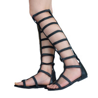 Kolnoo Handcrafted Womens Fashion Cut Out Sandals Peep-toe Zipper Party Dress Sexy Summer Spring Flats Shoes XD362