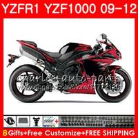 Wholesale Yamaha R1 Red White - Body For YAMAHA YZF 1000 R 1 YZFR1 09 10 11 12 Glossy red Bodywork 85NO35 YZF1000 YZF R1 2009 2010 2011 2012 YZF-1000 YZF-R1 09 12 Fairing