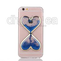 Custodia in TPU per iPhone 6 Custodia in silicone cinturino d'amore Custodia posteriore per telefoni cellulari Luminoso Glitter per iphone 7 7plus