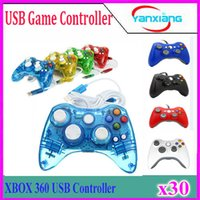 Wholesale Game Controller for Xbox Gamepad Black USB Wire PC for XBOX Joypad Joystick Accessory For Laptop Computer PC YX