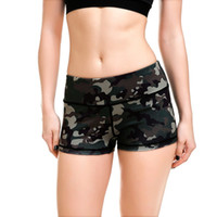 Wholesale Green Dance Shorts - Wholesale- LOVE SPARK 2017 Army Green Camouflage Women's Shorts S To 4xL Girls Gym Dance Jogging Running Sport Shorts