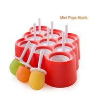 Ice Lolly Mold Silicone Mini Ice Pops Moule Ice Cream Ball Lolly Maker Moules à popsicle avec 9 cavity DIY Kitchen Tools
