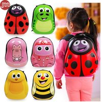 Wholesale Tiger Designed Backpacks - New Backpack Bee Ladybug Tiger Chick Penguin Dinosaur Design for 2-6 Year Kids Children Waterproof Student Bag Birthday Gift